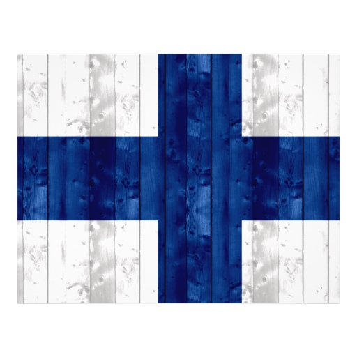 Wooden Finnish Flag Personalized Flyer