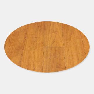 Wooden Floor Parquetry Parquet Laminate Brown Oval Sticker