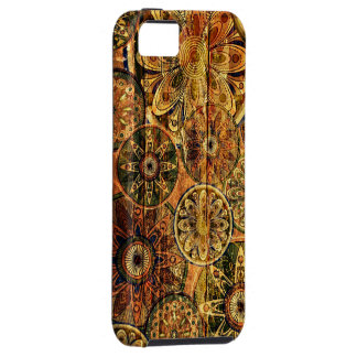 wooden floral abstract vector art iPhone 5 cover