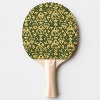 Wooden floral damask pattern background