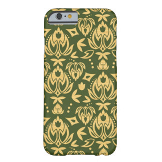 Wooden floral damask pattern background barely there iPhone 6 case