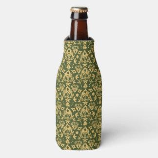 Wooden floral damask pattern background bottle cooler