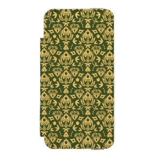 Wooden floral damask pattern background incipio watson™ iPhone 5 wallet case