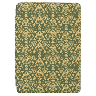 Wooden floral damask pattern background iPad air cover