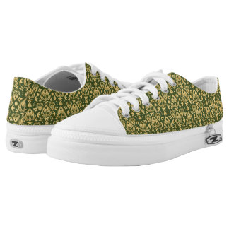 Wooden floral damask pattern background low tops