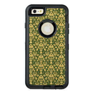 Wooden floral damask pattern background OtterBox iPhone 6/6s plus case