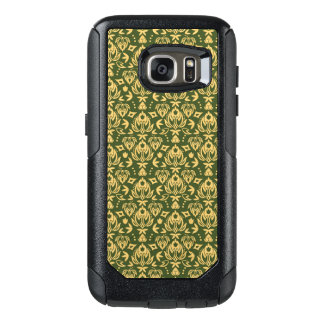 Wooden floral damask pattern background OtterBox samsung galaxy s7 case
