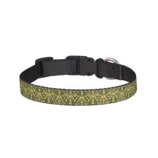 Wooden floral damask pattern background pet collar