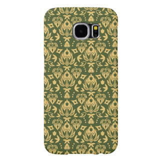 Wooden floral damask pattern background samsung galaxy s6 cases
