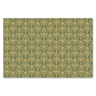 Wooden floral damask pattern background tissue paper