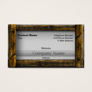 Wooden Frame Business Card