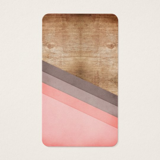 Wooden geometric art business card