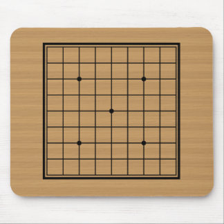 Wooden Go Board 9x9 Bordered Mouse Mat