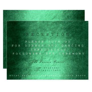 Wooden Green Fall Autumn Wedding Reception 9 Cm X 13 Cm Invitation Card