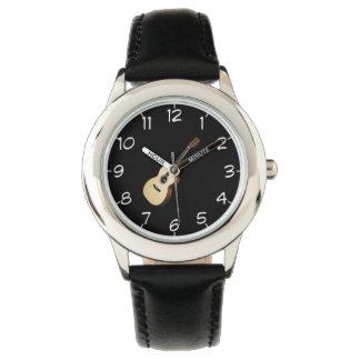 """""""Wooden guitar"""" design wrist watches"""