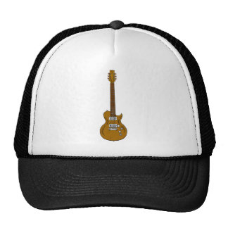 Wooden Guitar Mesh Hat