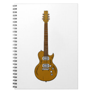 Wooden Guitar Note Books
