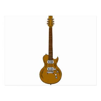 Wooden Guitar Postcard