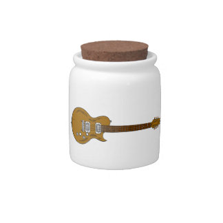 Wooden Guitar Candy Dish