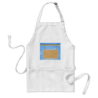 Wooden hanging sign apron