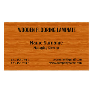 Wooden hard wood flooring PERSONALIZE Business Card Templates