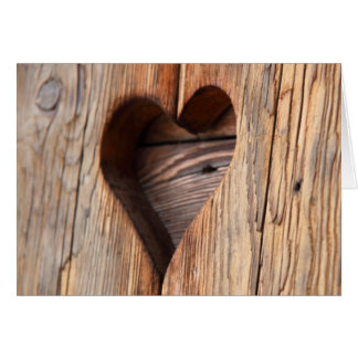 Wooden Heart Greeting Cards