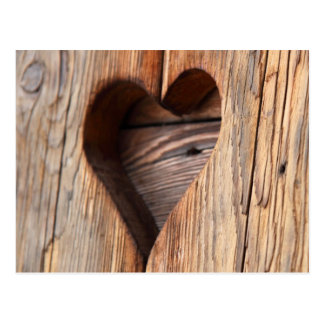 Wooden Heart Post Cards