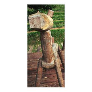Wooden Horses Custom Rack Card
