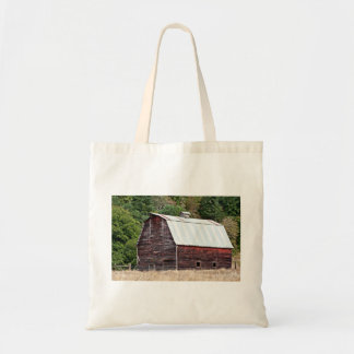 Wooden house budget tote bag