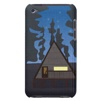 Wooden Hut In A Forest At Night - Illustration iPod Touch Case-Mate Case