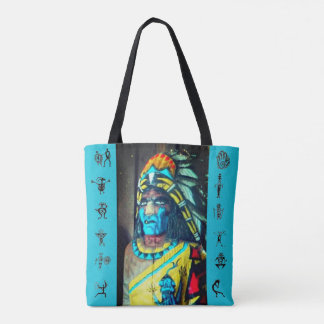 Wooden Indian Tote Bag