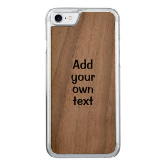 Wooden iphone Add Your Own Text Template Carved iPhone 8/7 Case