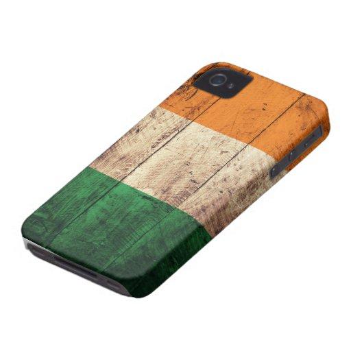 Wooden Ireland Flag iPhone 4 Case