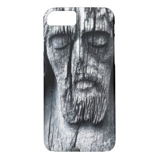 Wooden Jesus Apple iPhone 7, Phone Case