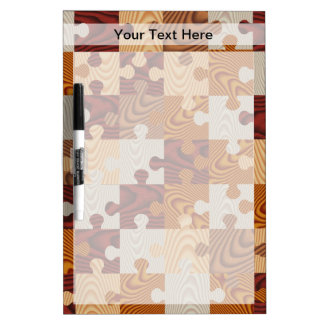Wooden jigsaw puzzle dry erase board