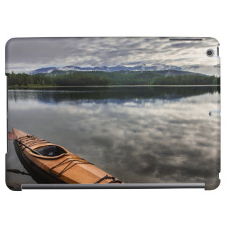 Wooden kayak on shore of Beaver Lake iPad Air Cover