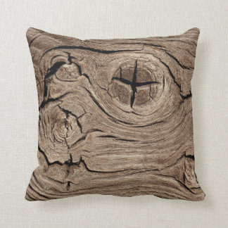 Wooden Knots Faux Texture Cushion
