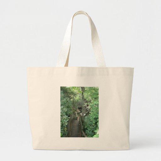 Wooden Labyrinth Canvas Bag