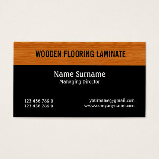 Wooden laminate wood flooring PERSONALIZE Business Card