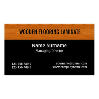 Wooden laminate wood flooring PERSONALIZE Pack Of Standard Business Cards