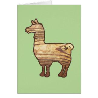 Wooden Llama Greeting Card
