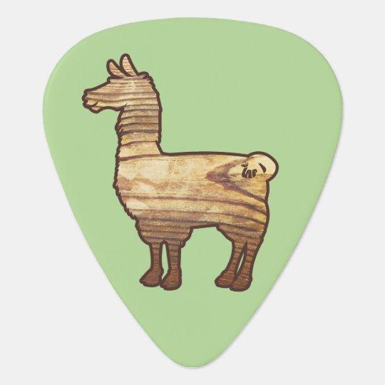 Wooden Llama Guitar Pick