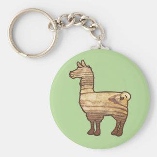 Wooden Llama Keychain