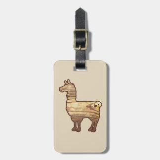 Wooden Llama Luggage Tag