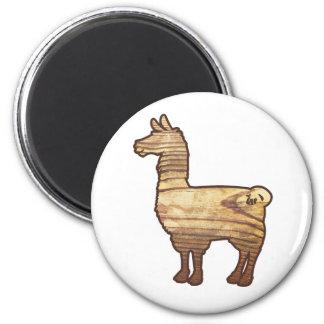 Wooden Llama Magnet