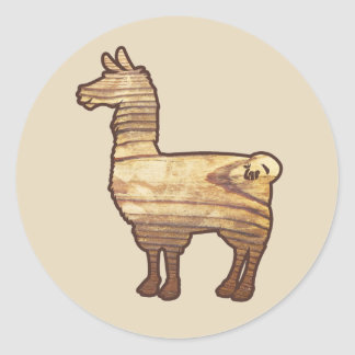 Wooden Llama Stickers