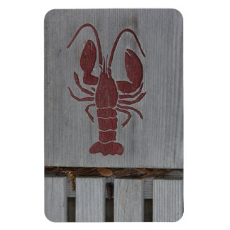 Wooden Lobster Photo Rectangular Photo Magnet