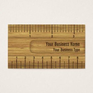 Wooden Look Ruler / Rule Construction or Carpenter Business Card