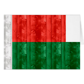 Wooden Malagasy Flag Greeting Cards