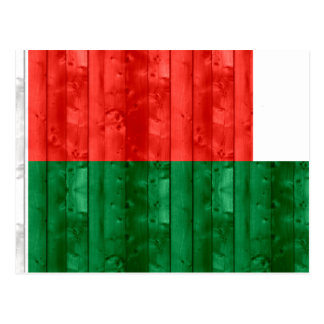 Wooden Malagasy Flag Post Card